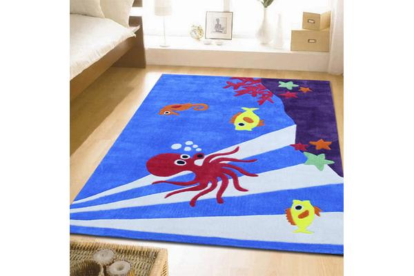 Awesome Under Water Theme Rug Blue 165x115cm