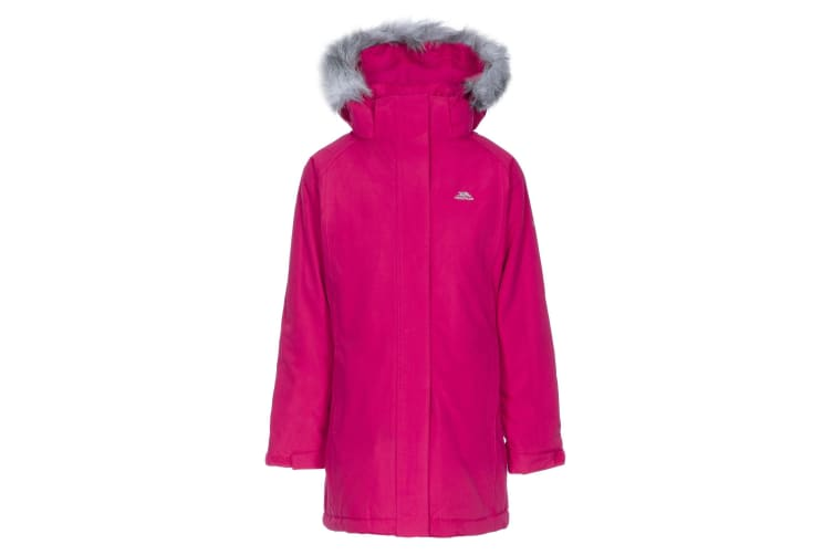 Trespass Childrens Girls Fame Waterproof Parka Jacket (Raspberry) (7-8 Years)