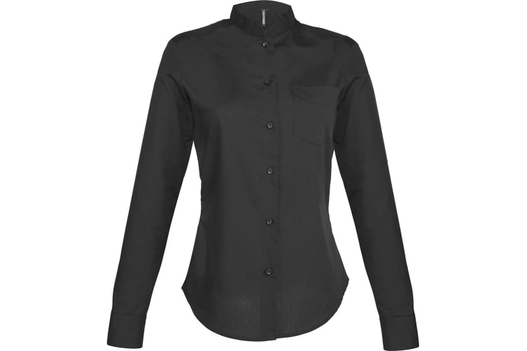 Kariban Long Sleeve Mandarin Collar Shirt Ladies Adjustable Cuffs Womens Shirts