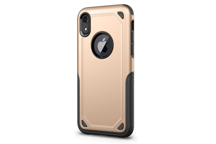 Shockproof Rugged Armour Protective Case For iPhone XR Gold
