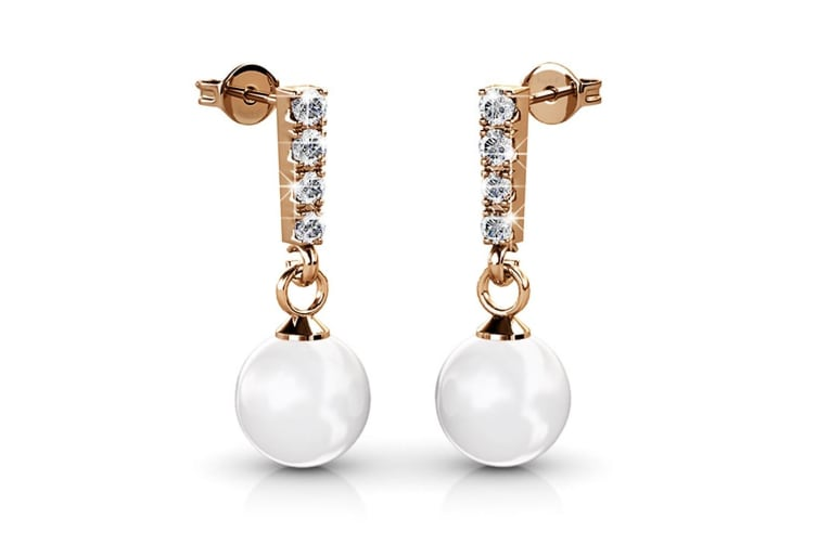 Lustrous Earrings Embellished with Swarovski crystals