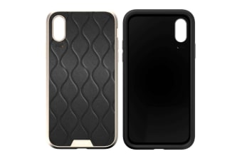 EFM Verona Leather D3O Case Armour Protection for Apple iPhone X/XS Gold/Black
