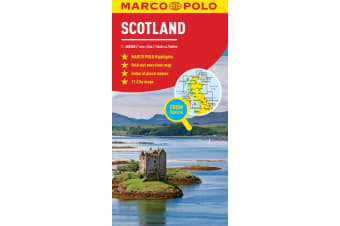 Scotland Marco Polo Map - Also covers Northern England