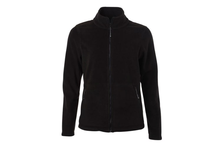 James and Nicholson Womens/Ladies Fleece Jacket (Black) (3XL)