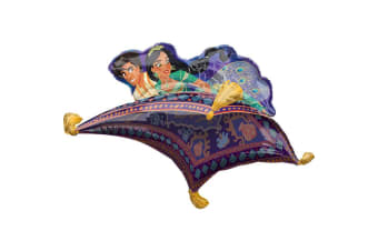Aladdin Flying Carpet Supershape Foil Balloon (Multicoloured) (One Size)