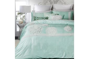 Tiffany Mint Quilt Cover Set by Platinum Collection