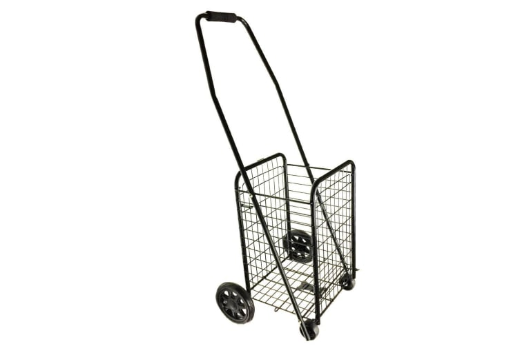2PK Portable 4 Wheels Grocery/Shopping Trolley/Cart/Foldable Basket/Holds 20Kg