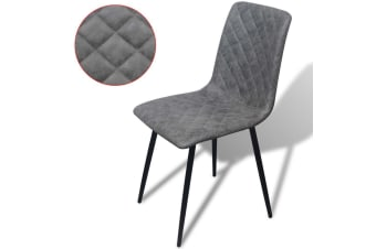 vidaXL Dining Chairs 6 pcs Artificial Leather Grey