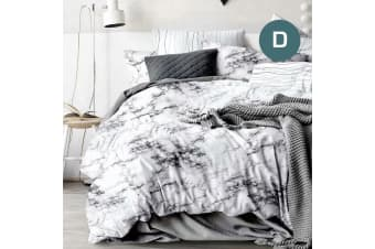 Double Size Marble Quilt/Doona Cover Set