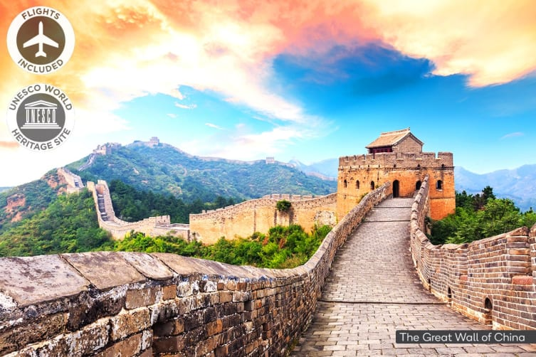 CHINA: 10 Day China Tour Including Singapore Airlines Flights for Two