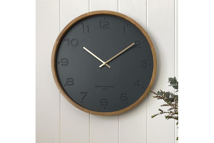 Freya Minimalist Silent Movement Wall Clock 35cm - White