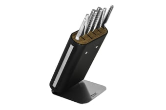 Global Hiro 7pc Professional Cutlery Knife Block Set Kitchen Knives Chef Cook