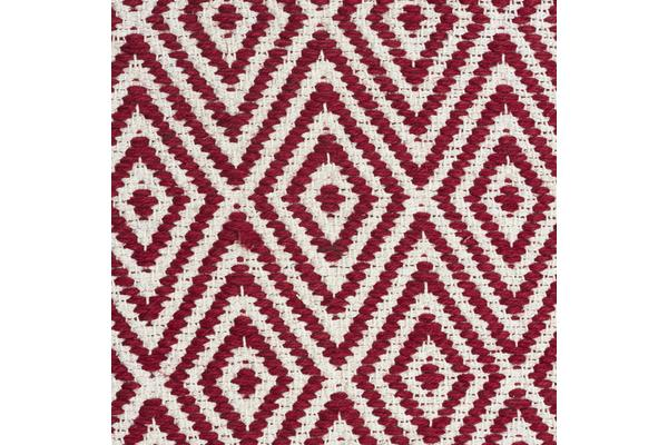 Modern Flatweave Diamond Design Red Rug 225x155cm