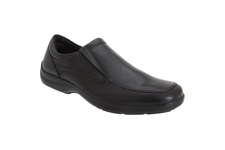 IMAC Mens Twin Gusset Casual Leather Shoes (Black) (42 EUR)