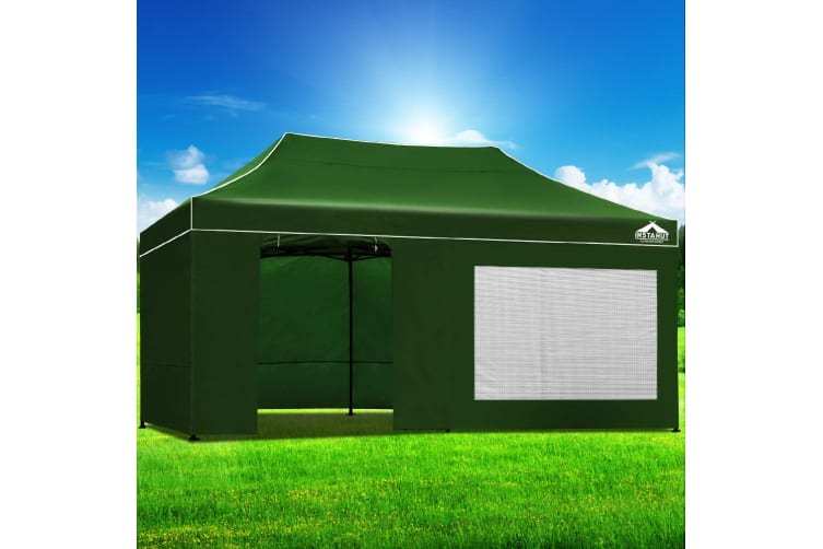 Pop Up Gazebo 3x6m Folding Marquee Tent Wedding Gazebos Green