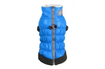 Hip Doggie Crown Dog Puffer Vest (Blue)