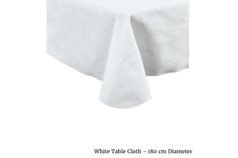 White Table Cloth Round by IDC Homewares