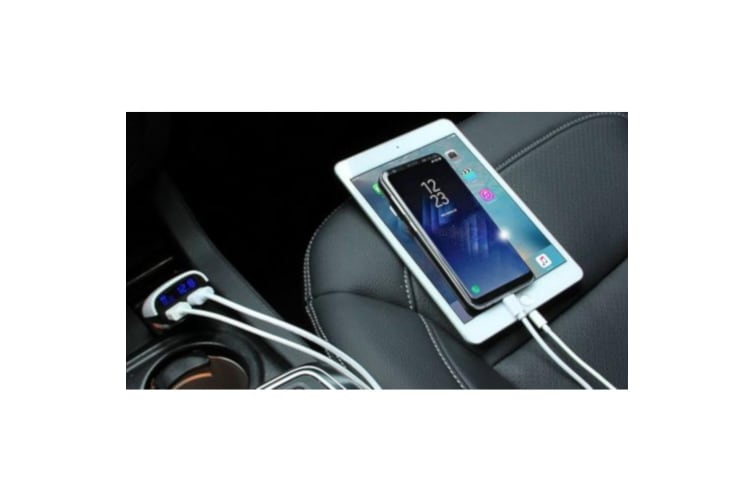 Haweel 3.4A Dual Black And White USB Ports Car Charger