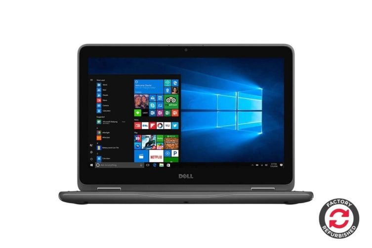 "Dell Inspiron 11 3185 11.6"" Convertible 2-in-1 Touch Screen (A6-9220E, 4GB RAM, 32GB, Gray) - Certified Refurbished"