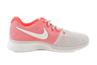 Nike Women's Tanjun Racer Running Shoe (Orewood Brown/Chrome/Solar Red, Size 8 US)