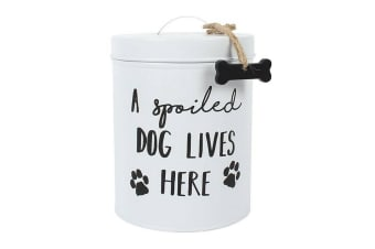 Something Different Dog Biscuit Tin (White) (One Size)