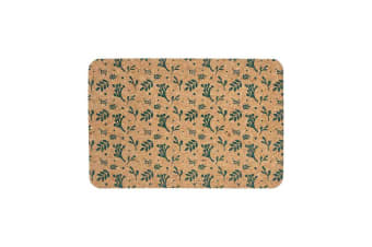 Ladelle Dwell Printed Cork Placemat Set of 4 Emerald