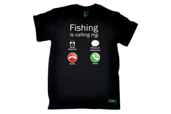 Drowning Worms Fishing Tee - Is Calling Me Mens T-Shirt