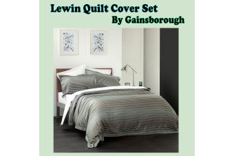 Lewin Grey Blue Quilt Cover Set King by Gainsborough