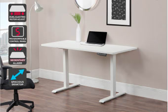 Ergolux Electric Dual Motor Height Adjustable Sit Stand Desk (140 x 70 cm)
