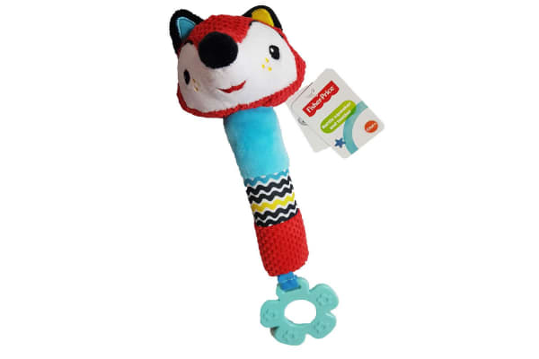 Fisher Price Squeak Rattle Toy w/ Teether Nursery/Baby 0m+