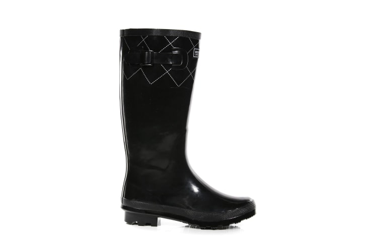 Regatta Womens/Ladies Ly Fairweather II Tall Durable Wellington Boots (Black/Silver) (7 UK)