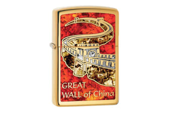 Zippo Great Wall of China Genuine Brass Fusion Finish Cigar Cigarette Lighter