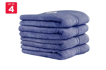 Onkaparinga Ethan 600GSM Hand Towel Set of 4 (Denim)