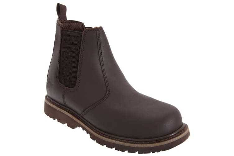 Grafters Mens Safety Chelsea Boots (Brown) (9 UK)