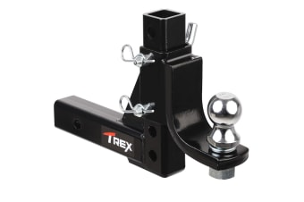 T-REX Adjustable Height Tow Hitch 50mm Tow Ball Towbar Drop Mount Tongue Trailer