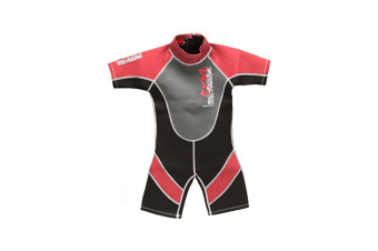 "26"" Chest Childs Shortie Wetsuit in Red"