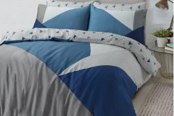 Style & Co 100 % Cotton Reversible Quilt Cover Set (Super King, Spliced)