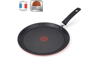 Tefal 28cm Character Crepe Pan Non-Stick Induction Dishwasher Safe Thermo Spot