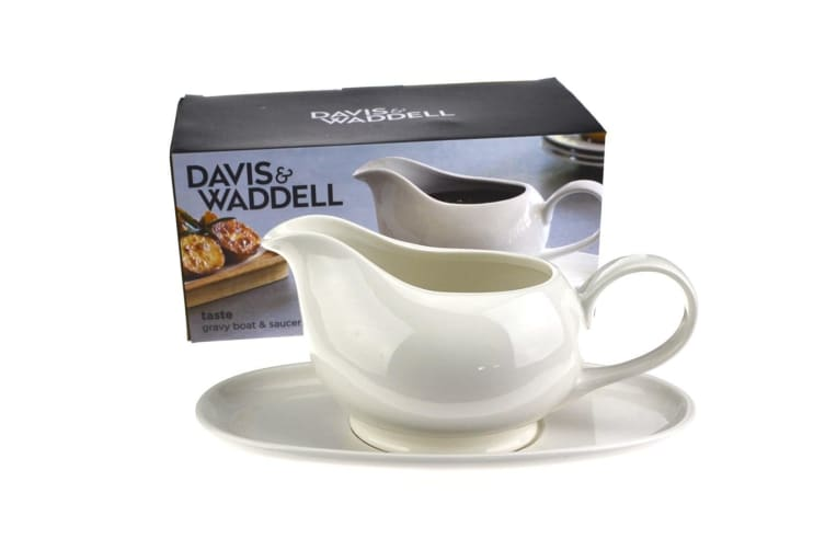 Davis And Waddell Gravy Boat And Saucer