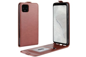 For Google Pixel 4 XL Case Brown Vertical Flip PU Leather Protective Cover