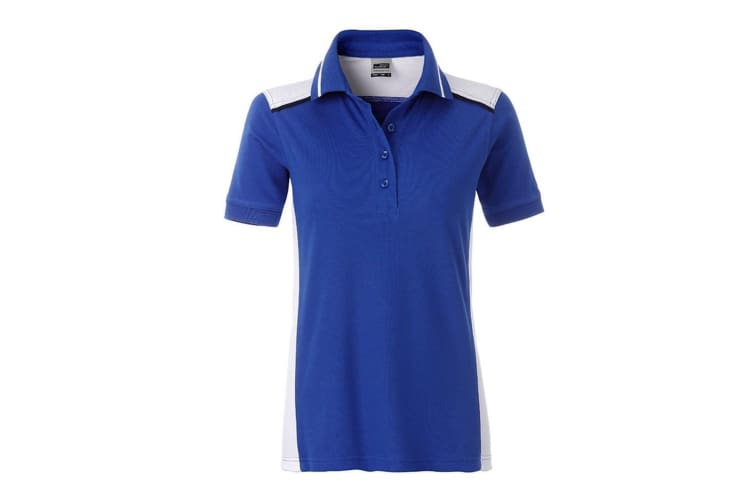 James and Nicholson Womens/Ladies Workwear Level 2 Polo (Royal Blue/White) (L)