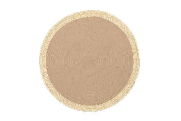 Milano Metallic Gold and Natural Jute Rug 200x200cm