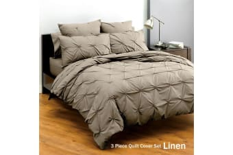 Altamont Linen Quilt Cover Set King by Deco