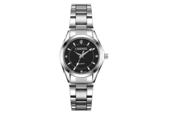 Women's Quartz Watch Stainless Steel  Wrist Watches Black