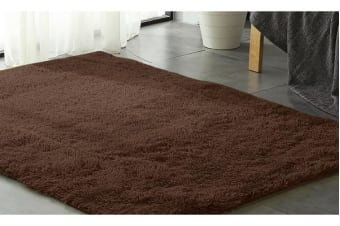 New Designer Shaggy Floor Confetti Rug PURPLE 160x230cm - Chocolate