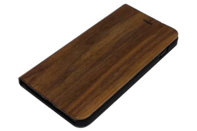 For iPhone 8 PLUS 7 PLUS Case Walnut Planks Durable Wooden Protective Cover
