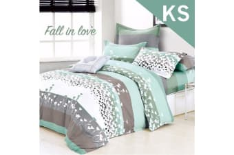 King Single Size FALL IN LOVE Design Quilt Cover Set