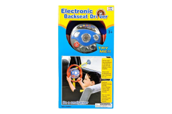 Electronic Backseat Driver Toy Steering Wheel with Lights and Music