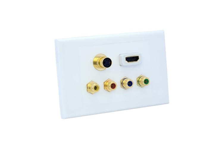 KORDZ Component HDMI SV and CV Wallplate