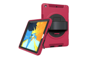 ShockProof Military Heavy Duty Case Cover For iPad 5th 9.7 Inch 2017-RoseRed